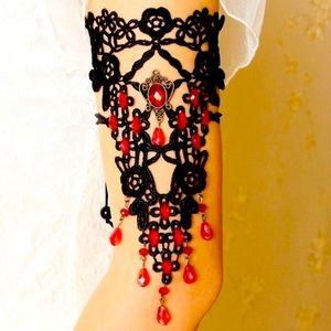 Victorian Gothic Crochet Arm Cuff
